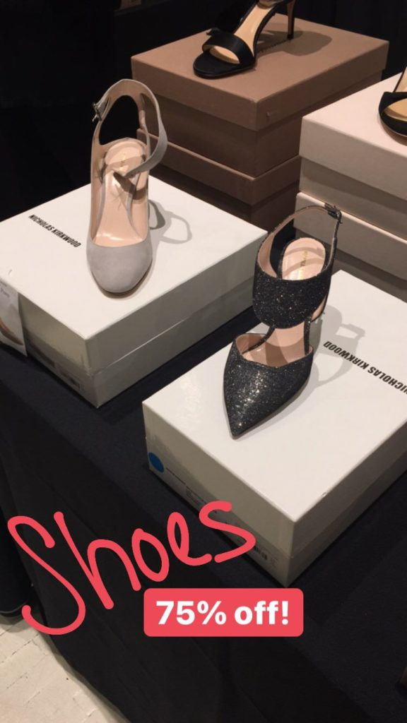 Nicholas Kirkwood shoes at the Fivestory Sample Sale