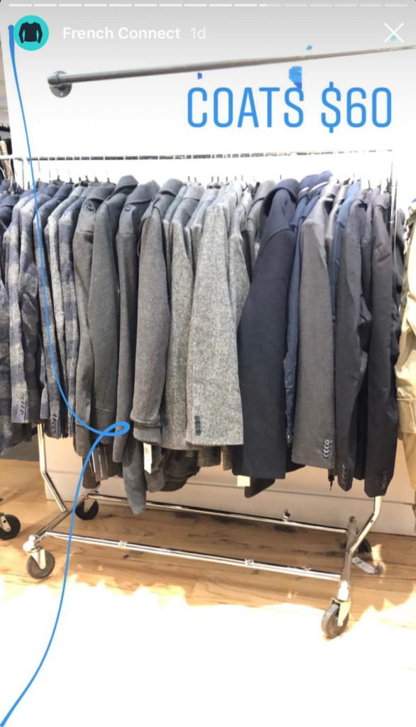 French Connection sample sale